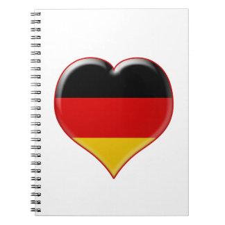 Deutsch-Herz-Charme Notebook