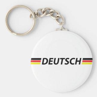 deutsch icon basic round button keychain