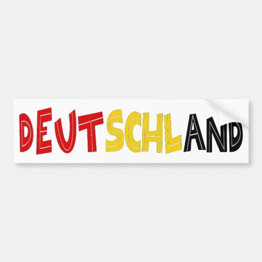 Deutschand Original designs! Bumper Sticker