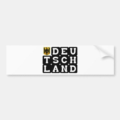 Deutschand Original designs! Car Bumper Sticker