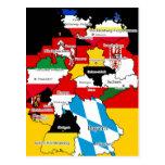 Deutsche Bundesländer Post Card