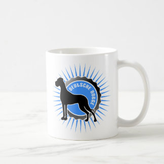 Deutsche Dogge stern blau Coffee Mug
