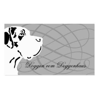 Deutsche Dogge Visitenkarte Business Card Template