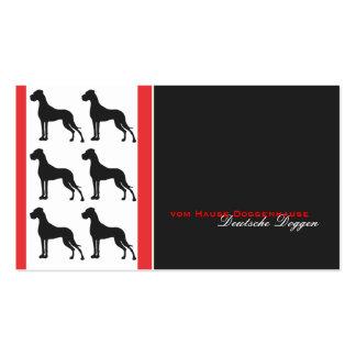 Deutsche Dogge Visitenkarte Business Cards