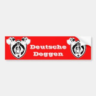 Deutsche Dogge Wappen Bumper Sticker