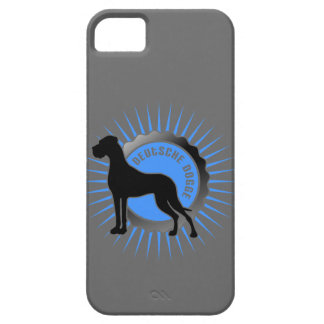 Deutsche Doggem Stern und Schrift iPhone 5 Cover