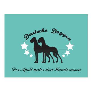 Deutsche Doggen Beschriftet Postcard