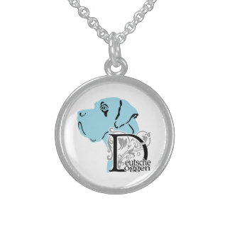 Deutsche Doggen / Great Dane Sterling Silver Necklace