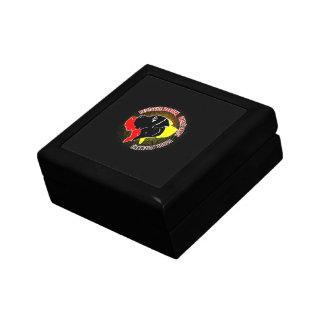 Deutsche Doggen Schwarz Rot Gold Jewelry Box