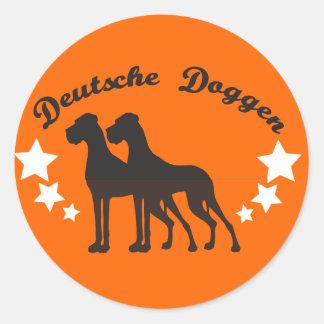 Deutsche Doggen Round Stickers