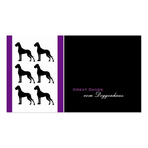 deutsche doggen visitenkarten business card zazzle. Black Bedroom Furniture Sets. Home Design Ideas