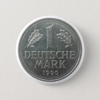 Deutsche Mark coin Button