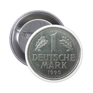 Deutsche Mark coin Button