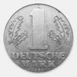 Deutsche Mark der DDR Runder Aufkleber