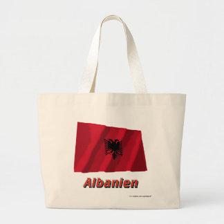 Deutschem Namen del mit de Albanien Fliegende Flag Bolsa Tela Grande