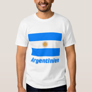Deutschem Namen del mit de Argentinien Flagge Playera