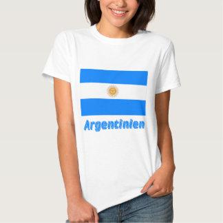 Deutschem Namen del mit de Argentinien Flagge Poleras