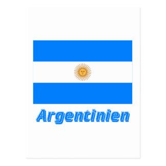 Deutschem Namen del mit de Argentinien Flagge Tarjetas Postales