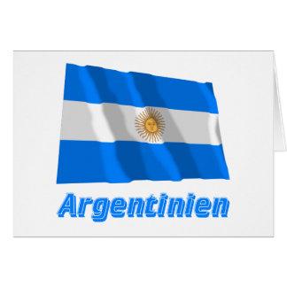 Deutschem Namen del mit de Argentinien Fliegende Tarjeta De Felicitación