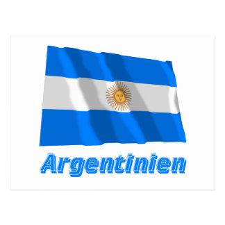 Deutschem Namen del mit de Argentinien Fliegende Tarjeta Postal