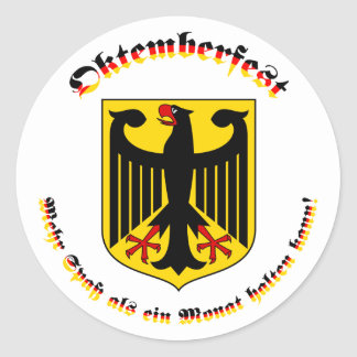 Deutschem Wappen del mit de Oktemberfest Pegatinas Redondas