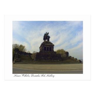 Deutsches Eck, Kaiser Wilhelm, Coblenza, Alemania Postal