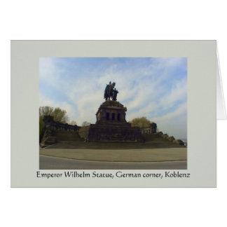 Deutsches Eck, Kaiser Wilhelm, Coblenza, Alemania Tarjeta De Felicitación