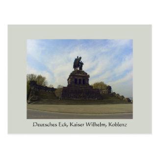 Deutsches Eck, Kaiser Wilhelm, Coblenza, Alemania Tarjetas Postales
