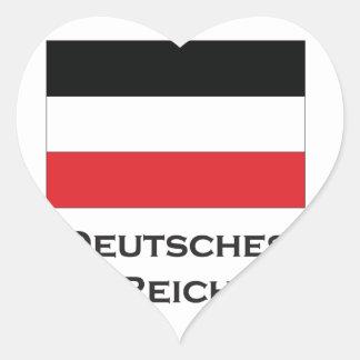 deutsches reich.ai heart sticker