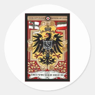 Deutsches Reich ~ Vintage German WW1 Poster Classic Round Sticker
