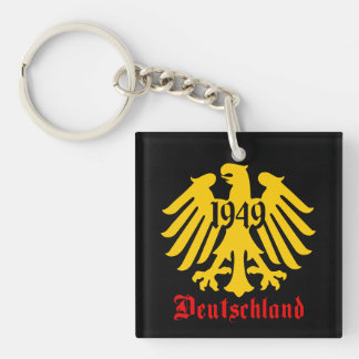 Deutschland 1949 German Eagle Emblem Keychain