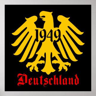 Deutschland 1949 German Eagle Emblem Poster, Black Poster