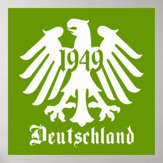 Deutschland 1949 German Eagle Emblem Poster, Green Poster