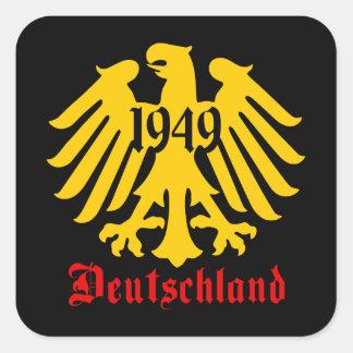 Deutschland 1949 German Eagle Emblem Square Sticker