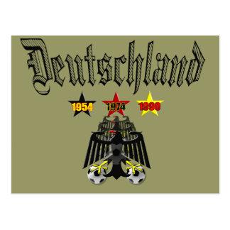 Deutschland 1954 1974 1990 Champions gifts Postcard