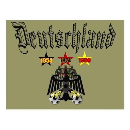 Deutschland 1954 1974 1990 regalos de los campeone postal