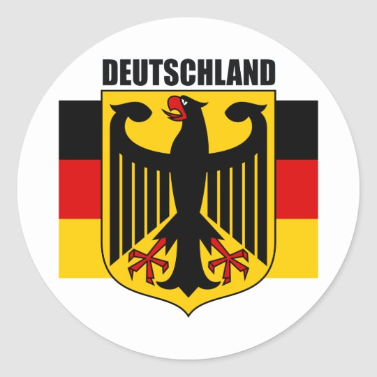 Deutschland 2 classic round sticker