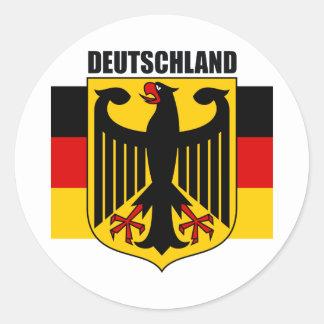 Deutschland 2 pegatina redonda