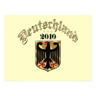 Deutschland Adler 2010 Wappen Fussball gifts Postcard