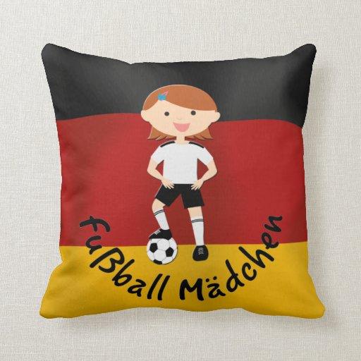 Deutschland Alemania Fußball Mädchen 3 Almohadas
