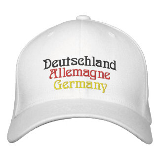Deutschland Allemagne Germany - Deutschland Embroidered Baseball Cap