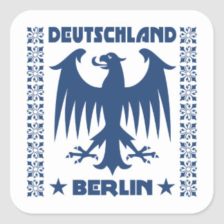 Deutschland Berlin German Eagle Symbol Square Sticker