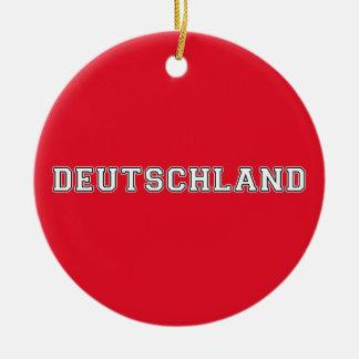 Deutschland Ceramic Ornament
