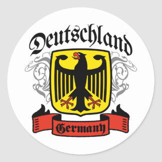 Deutschland Classic Round Sticker
