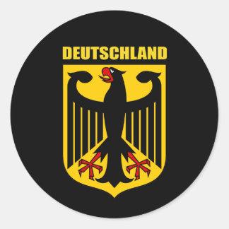 Deutschland Coat of Arms Classic Round Sticker