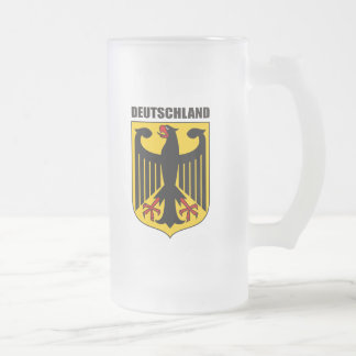 Deutschland Coat of Arms Frosted Glass Beer Mug