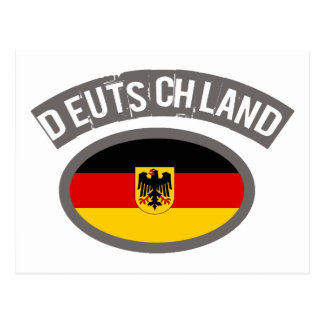 Deutschland cool flag design! postcard