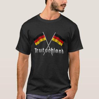 Deutschland double flag T-shirts