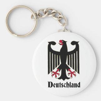 Deutschland Eagle Basic Round Button Keychain