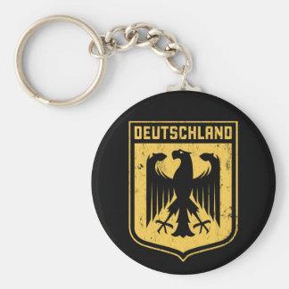 Deutschland Eagle - escudo de armas alemán Llavero Redondo Tipo Pin
